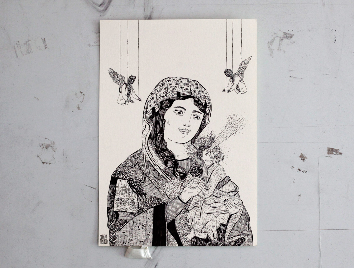Poyecto El dibujo como acto de resistencia, dibujo, Byron Maher
