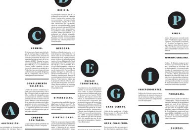 Special editorial layout for article in the Diagonal Newspaper