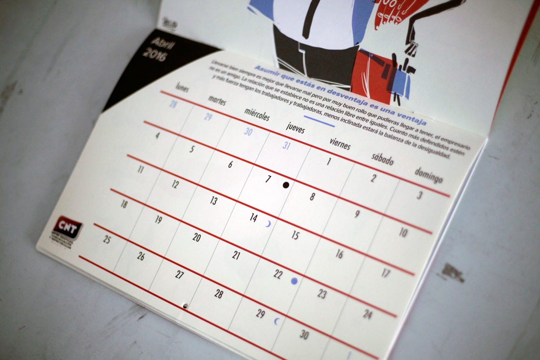 diseño calendario cnt 2016, Byron Maher