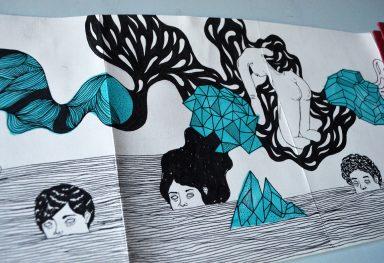 Drawing in progress in Croquera Humboldt of 5 metres