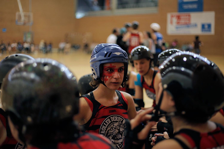 rollerDerby, roller derby madrid, Paris Roller Girls, fotografía, Byron Maher