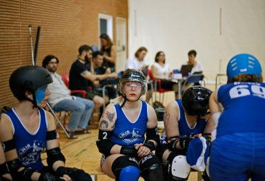 Photo-reportage about Roller Derby game