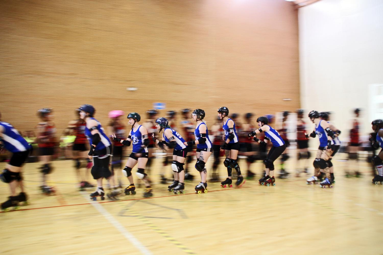 rollerDerby, roller derby madrid, Paris Roller Girls, fotografía, Byron MaherrollerDerbi_27