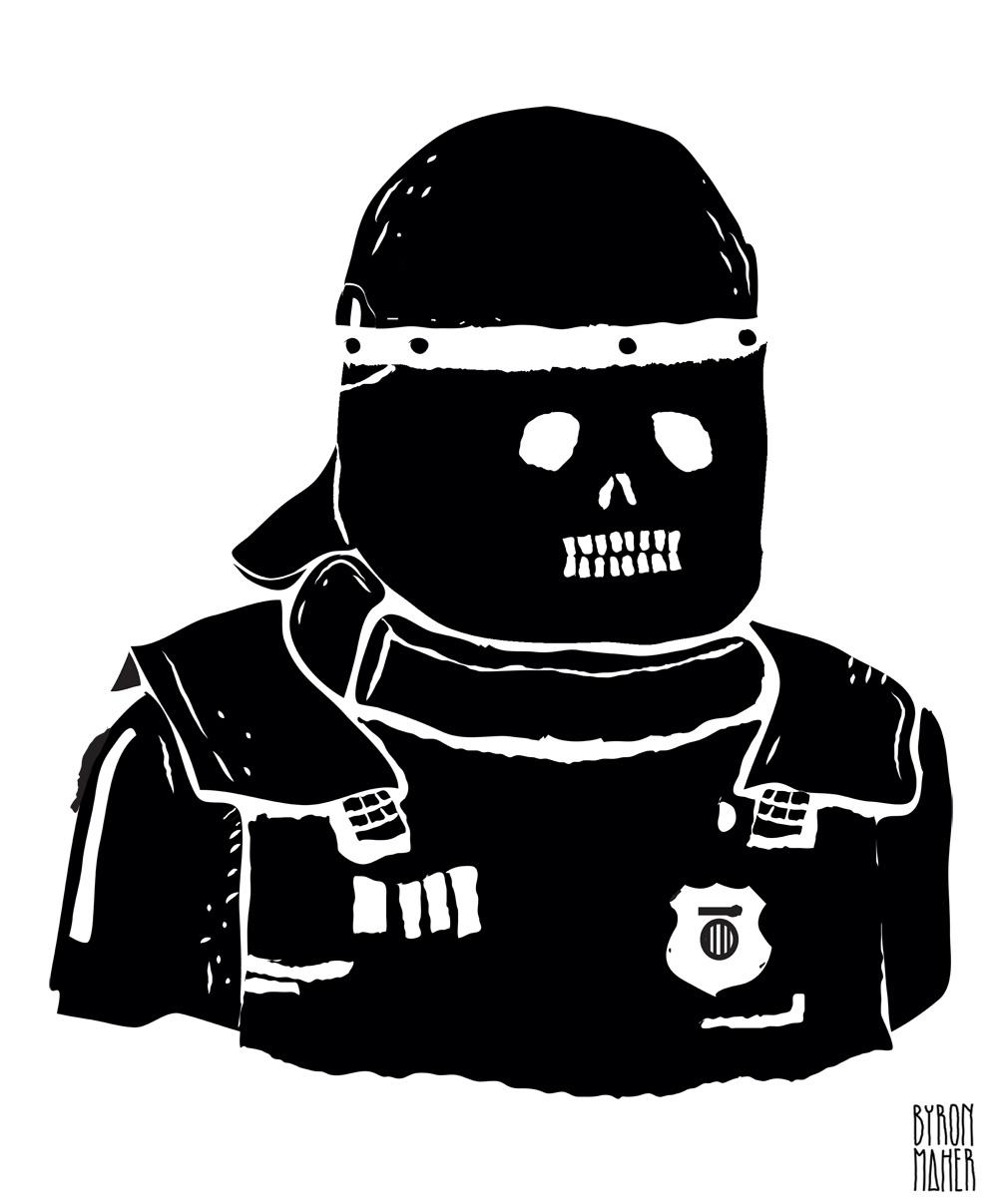 8 agentes de la muerte, derechos humanos, arte, art, policía